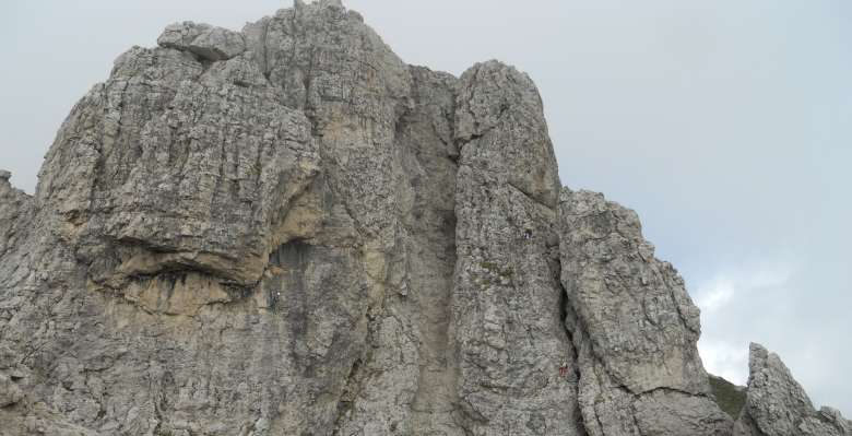 La parete nord del Torrione Magnaghi settentrionale