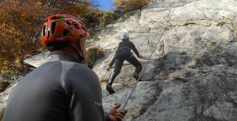 arrampicare in falesia