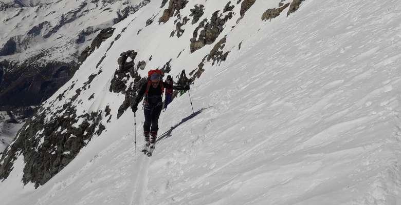 Mont Gelé (3518 m) scialpinismo
