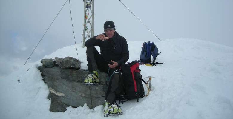 sulla cima del Pizzo Scalino 3.323m.
