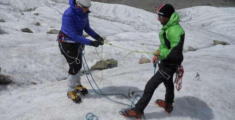 Corso di progressione su ghiacciao