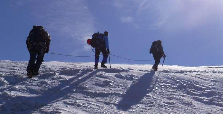 Corso di progressione su ghiacciaio