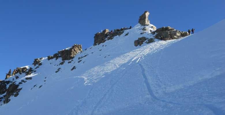 Verso la cima del Gran Paradiso 4.061m.