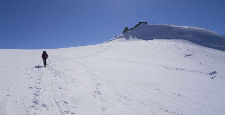 verso la Capanna Margherita 4.559m. al Monte Rosa