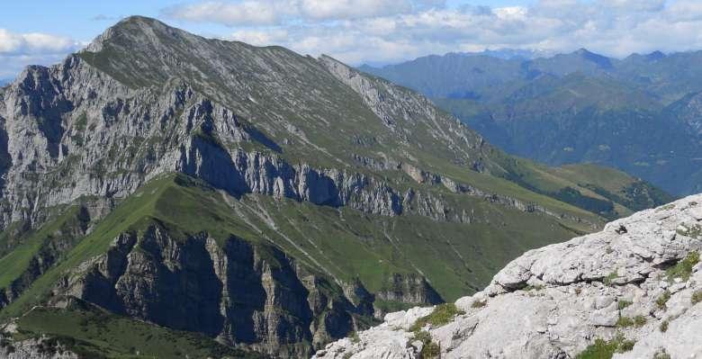 Sguardo verso la traversata  che conduce al Grignone