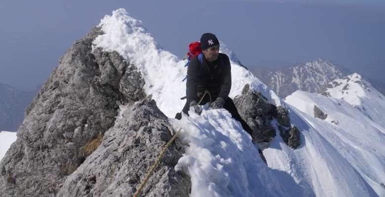 Un tratto affilato della cresta di Piancaformia al Grignone