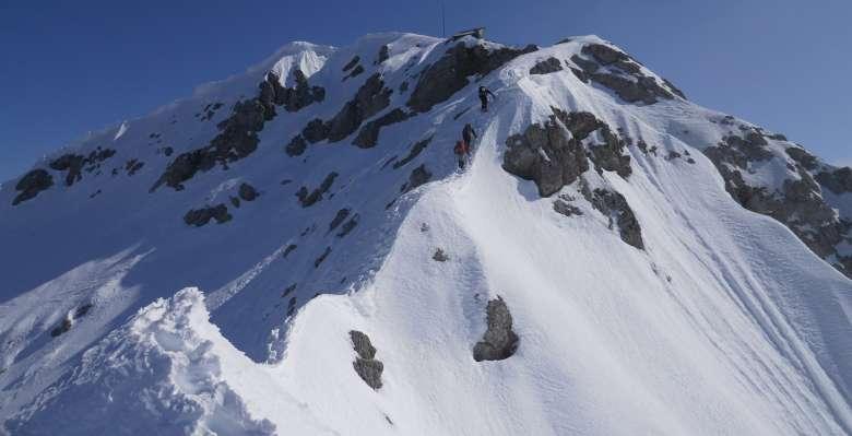 Lungo il tratto finale della cresta di Piancaformia al Grignone