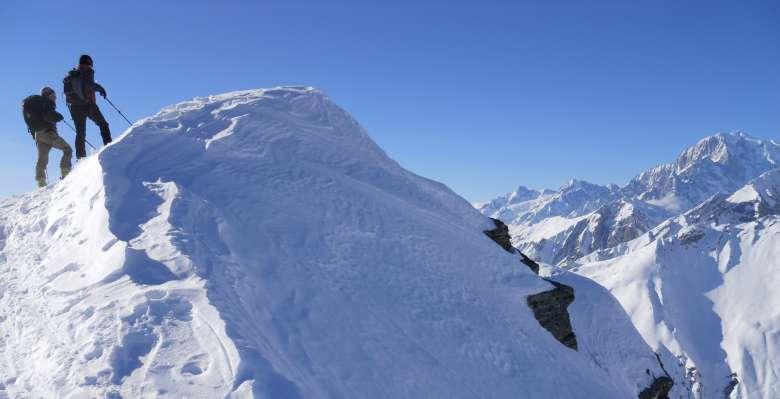 Gita di scialpinismo alla Testa dei Fra