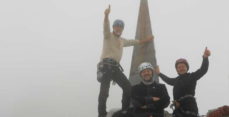 Sulla cima della Piramide Casati in Grignetta